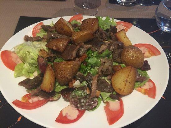 Castillon-la-Bataille, Frankrike: Les assiettes sont toujours bien soignées, bien présentées et très raffinées