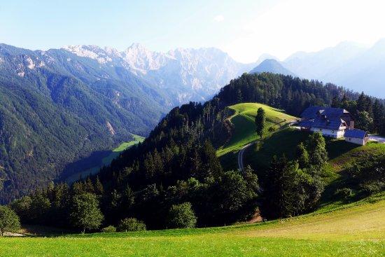 Solcava, Slovenia: Logarska Doline seen from Sveti Duh