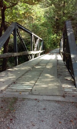 Rosman, NC: Bridge that scared us at first but it was no problem