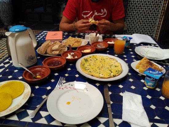 Riad Fes Aicha : Breakfast