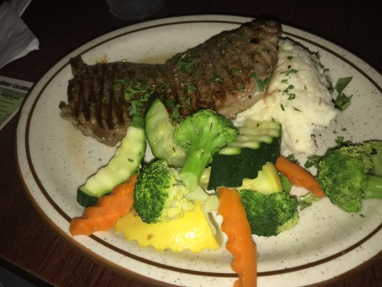 Brisbane, CA: New York Steak, Mashed Potatoes, Assorted Veggies