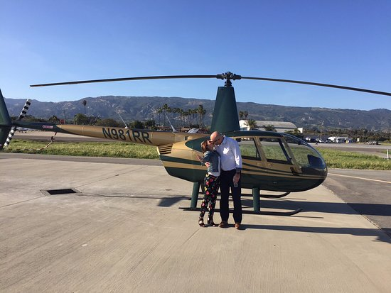 Santa Barbara Helicopter Tours: We were too excited & forgot to take pictures mid flight!