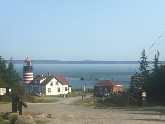 Lubec, Мэн: View from parking lot