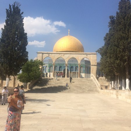 Photo of Historic Site Dome of the Rock at Temple Mount (haram Al-sharif), Jerusalem, Israel