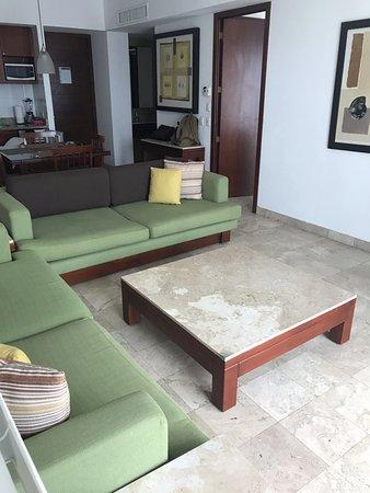 Mayan Palace Mazatlan: Sala de la Suite, los sillones muy comodos... se hacen cama