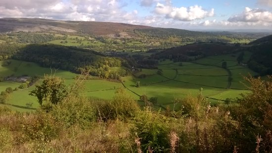 Llanarmon DC, UK: View across the valley