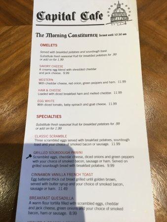 Middletown, PA: The menu