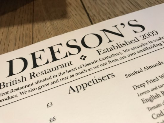 Deeson's Restaurant: photo0.jpg