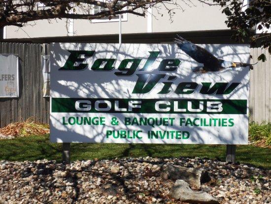 Eagle View Golf Club, Mason, MI - sign