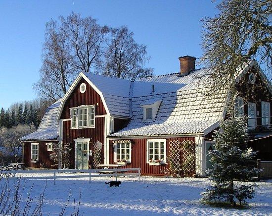 Boxholm, Швеция: Sommarhagen i vinterskrud
