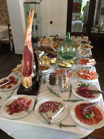 Binibona, Spanien: Une partie du buffet du petit déjeuner