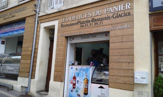restaurant facade picture of les delices du panier marseille tripadvisor. Black Bedroom Furniture Sets. Home Design Ideas