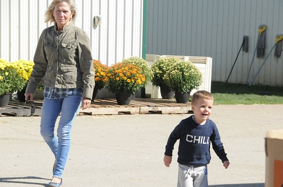 Minesing, Canadá: Trying to keep up with the grandson
