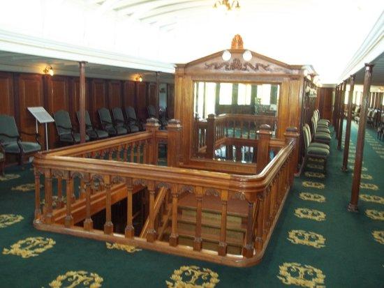 Shelburne Museum: Inside Salon Deck of Steamship