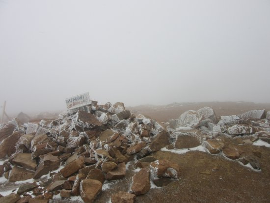 Pikes Peak - America's Mountain: Don't go on a cloudy day!