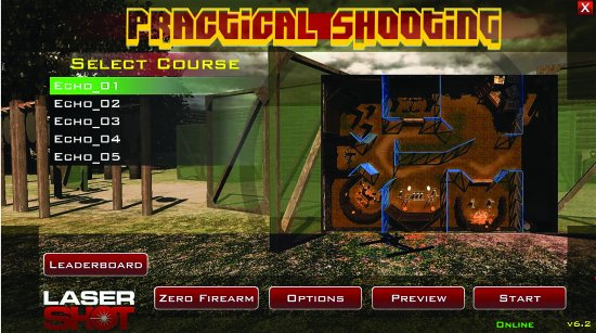 Perfect Shot: Gun Simulator game 5 courses to hone your accuracy skills.