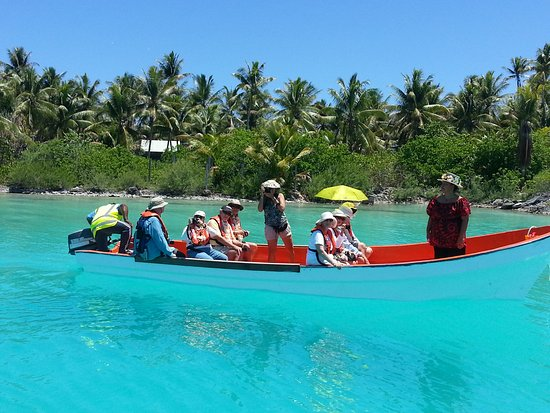 Rarotonga, Îles Cook : On our way to our pearl farm