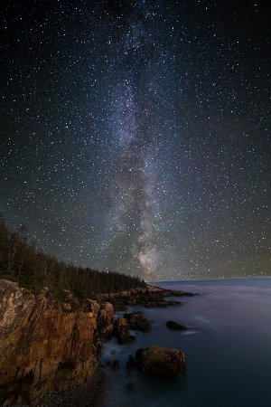Winter Harbor, ME: Raven's Nest Milky Way (McGuirk)