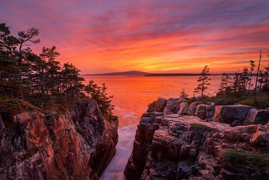 Winter Harbor, ME: Raven's Nest Sunset (McGuirk)