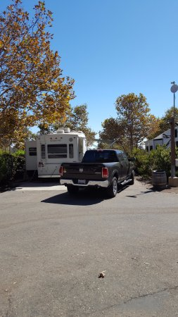 Ocean Mesa Campground at El Capitan: pull threw camp sight