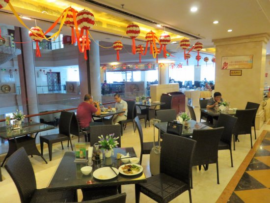 Longkou, China: Restaurant on 2nd floor