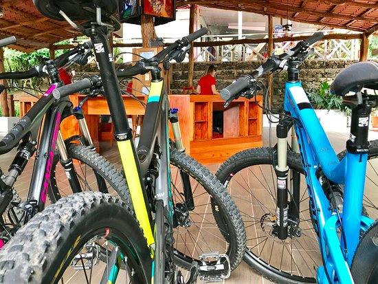 Rincon de La Vieja, Costa Rica: anyone wanting a ride on our Santa Cruz bikes?