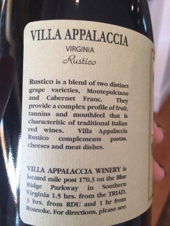 Floyd, VA: Villa Appalaccia Winery
