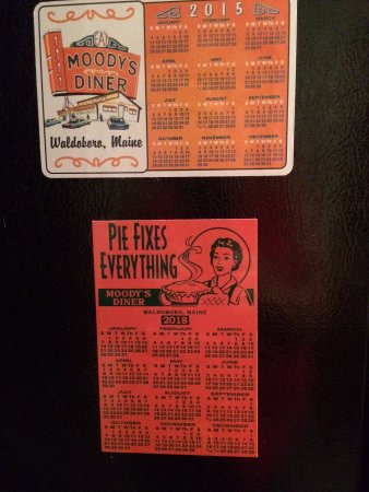 Waldoboro, Мэн: Moody's Diner Magnetic Calendars