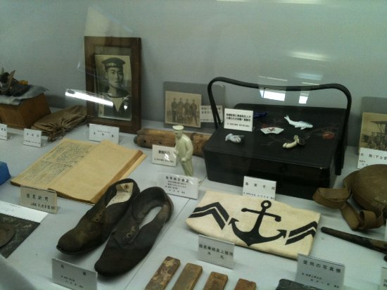 Suooshima-cho, Japan: Artifacts recovered from the Mutsu or sent by families of the victims