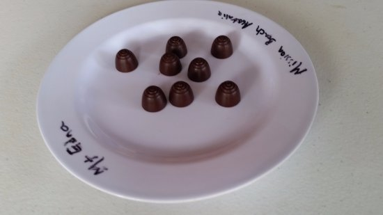Mission Beach, Australia: A tasting plates of chocolate produced from trees grown locally