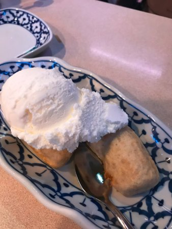 Keremeos, Canada: Deep Fried Banana with Ice Cream