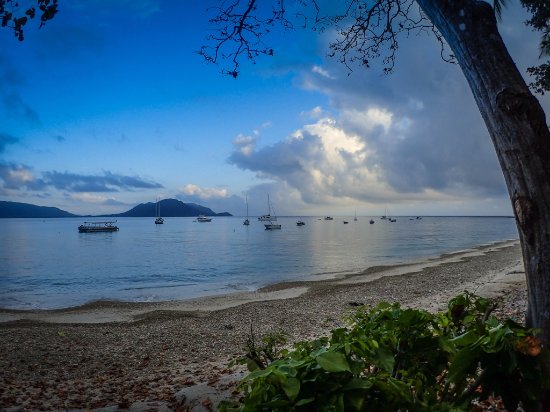 Fitzroy Island Resort: Morning view of the ocean, from the resort