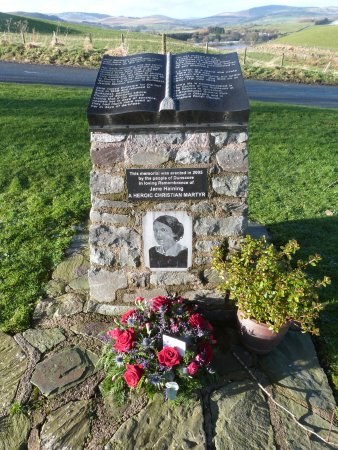 The Jane Haining Memorial Cairn in Dunscore