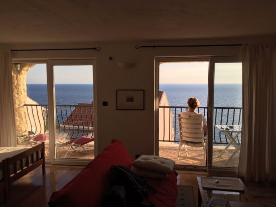 Fox Apartments: View from inside the room
