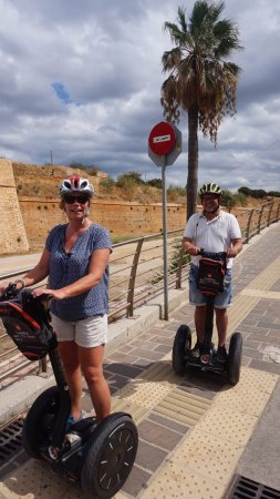 Chania Segway Tours: taken on the outsite of the old city of Chania - Kreta