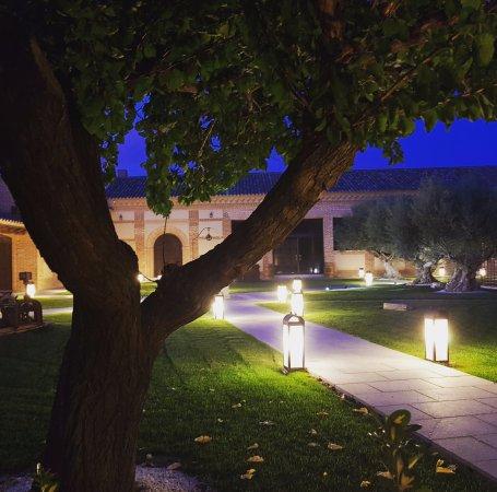 Madrigal de las Altas Torres, Spain: Jardines y vista desde la terraza de la Suite la Reina