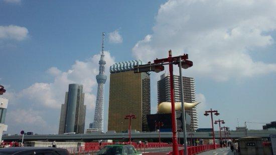 Prefectura de Tokio, Japón: 桜橋からの、東京スカイツリー等の眺めです。