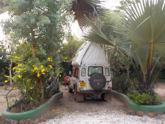 Sukuta, Gambia: Our camping pitch