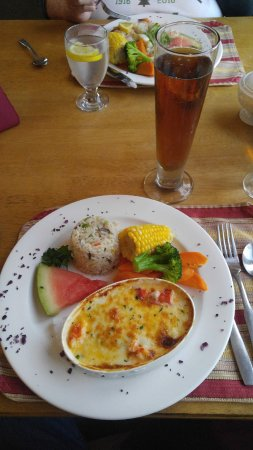 Montague, Καναδάς: Seafood medly augratin