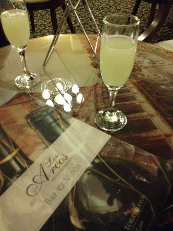 Hotel Torremayor Lyon: O hotel nos ofereceu um drink de cortesia: Pisco