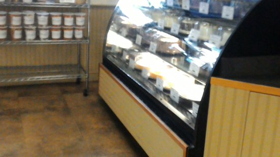 Wild Oats Bakery & Cafe: display case and entryway