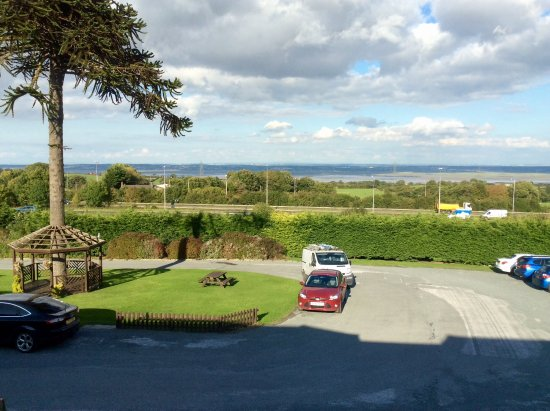 Pentre Halkyn, UK: View from room looking over Dee to Wirral