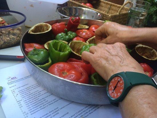 Otzias, Grecja: Stuffing vegetables