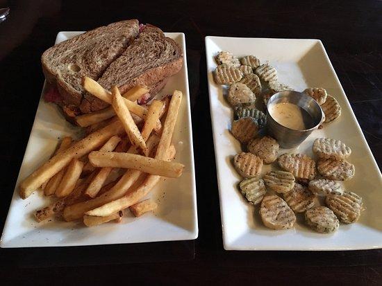 Carthage, TN: Ruben Sandwich w/fries and Fried Dill Pickle appetizer