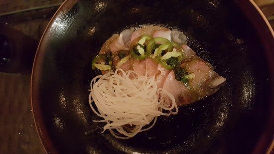 Nikai Sushi: Hamachi Mariachi - Hamachi with Pickled Jalepeno
