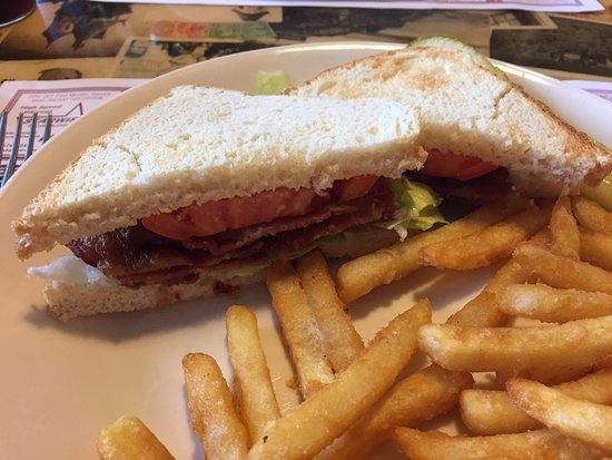Danbury, WI: BLT with house made bread and fries