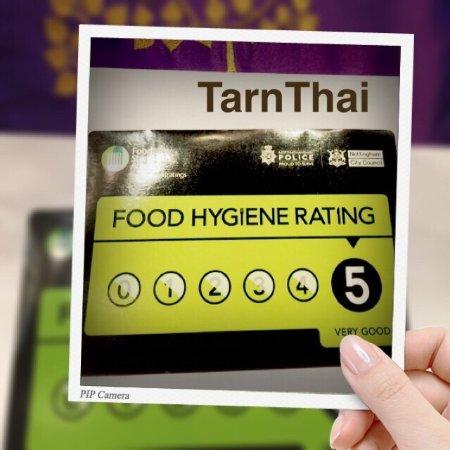 5 Stars Food Hygiene Rating Picture Of Tarn Thai