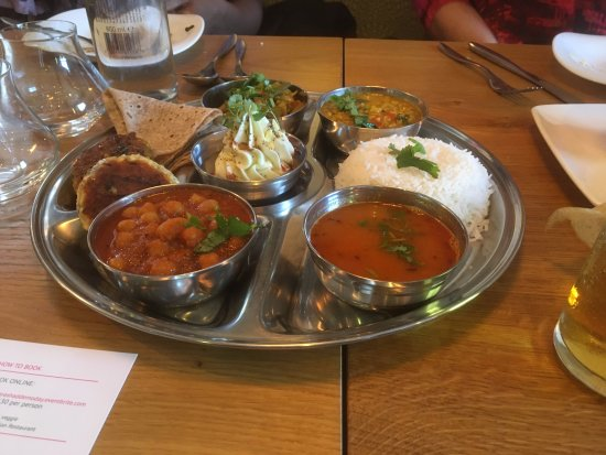 Drighlington, UK: Thali tray