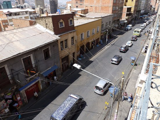 Hotel Rosario La Paz: View from the top floor, a place to hang out
