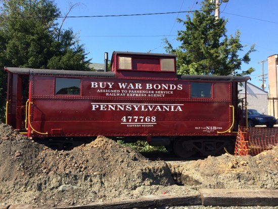 Boyertown, PA: A caboose on the site